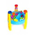 Стол игровой для песка и воды с набором формочек «СЧАСТЛИВЫЙ КАРАПУЗ»