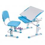 Детская растущая парта и стул-трансформер CUBBY Lupin Blue, Pink, Grey, Purple (68,8 см; 52,5-74,5см)