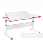 Регулируемая парта FunDesk Creare Pink, Grey, Blue (120 см; 56-76см)