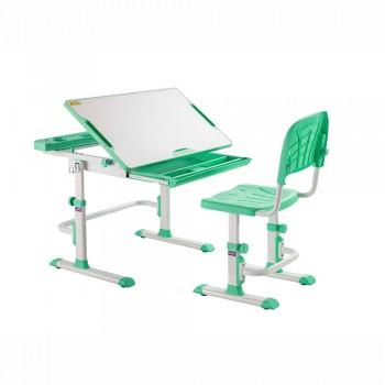 Растущая парта и стул-трансформер Cubby Disa Green, (83см; 54,6-76,6см)
