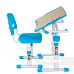 Детская парта Fun Desk Piccolino II, голубой, розовый, серый, зеленый (66.4см; 54-76см)