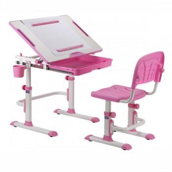 Детская растущая парта и стул-трансформер CUBBY Karo Pink, Grey, Blue, Purple (68,8 см; 52,5-74,5см)