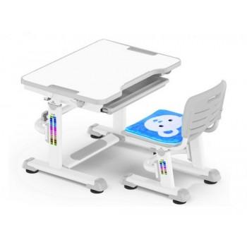 Комплект парта и стульчик Mealux BD-08 Teddy, разные цвета (70см; 52-76см)