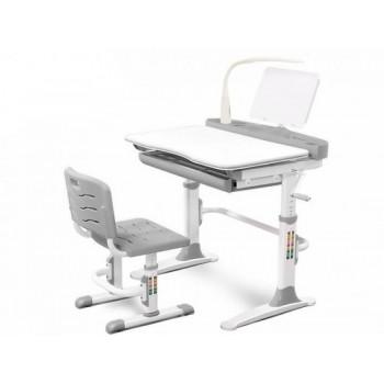 Комплект парта, стульчик и лампа Mealux EVO-19, разные цвета (90см; 51-76см)