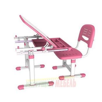 Комплект парта и стул трансформеры Smart Elfin B201 розовый, серый, голубой (66,4см)