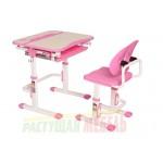 Парта и стул трансформеры Smart С502 розовый, серый, голубой (68см)