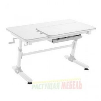 Детский растущий регулируемый стол Smart E505 для работы сидя-стоя белый/серый декор (119,5см)