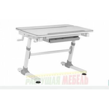 Детская парта Smart E501 белая/серый декор (98см)