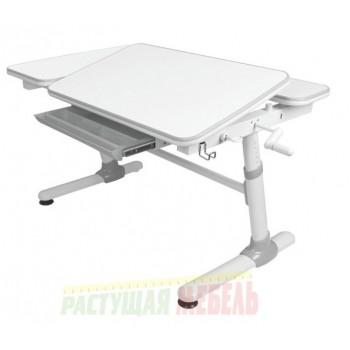 Детская парта Smart E502 белая/серый декор (119см; 58-80)