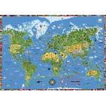 Цветные накладки для письменных столов moll, карта лошадей / карта мира / планеты