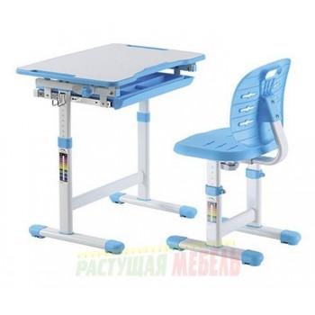 Парта и стул трансформеры New Elfin B201S, голубой, розовый, серый (66,4 см)