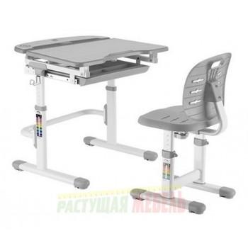 Парта и стул трансформеры New Smart C304S, голубой, розовый, серый (70,5 см)