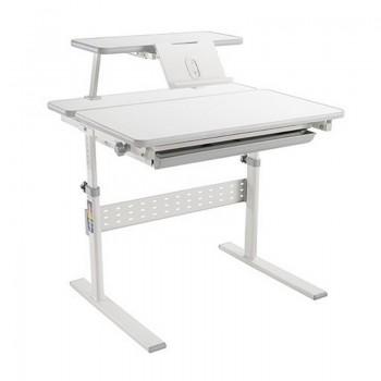 Детская парта Study Desk E202S с книжной полкой и подставкой для книг (80см; 54-76см)