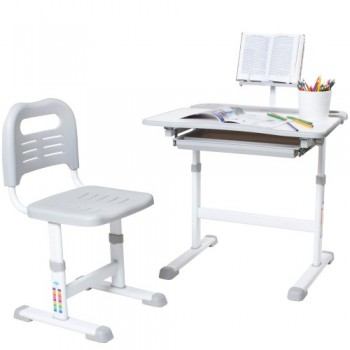 Комплект растущая парта и стул RIFFORMA SET-17, разные цвета (70см; 52-74см)