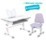 Комплект растущая парта и стул с чехлом RIFFORMA SET-07 Lux, разные цвета (80см; 54-76см)
