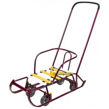 Санки детские Ника Тимка 6 Универсал с колесной базой для транспортировки и ремнем безопасности