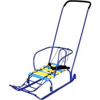 Санки детские Ника Тимка 5 комфорт с колесом для транспортировки и ремнем безопасности